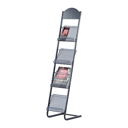 Porte-magazines et porte-journaux Support de type L Etagères de rangement en métal à haute capacité Fichiers de plancher Support d'écran en rack Matériaux promotionnels Support d'affichage Protection de l'environnement Belle Durable