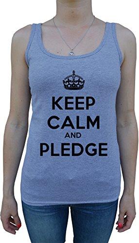 keep-calm-and-pledge-femme-debardeur-t-shirt-gris-coton-womens-tank-t-shirt-grey