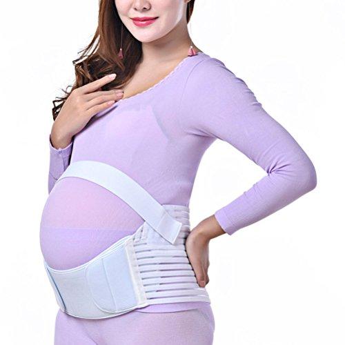 Zhhlaixing Schwangerschafts-Stützgurt Breathable Maternity Belt Pregnancy Support Waist Back Abdomen Belly Band Prenatal White