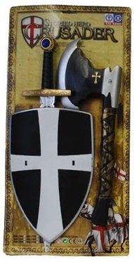 Set da crociato con Spada, Ascia e scudo