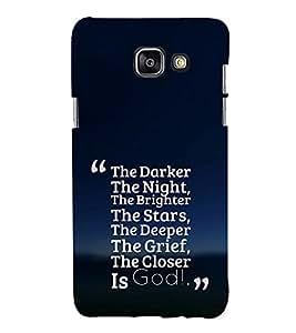EPICCASE Closer the god Mobile Back Case Cover For Samsung Galaxy A5 (2016) (Designer Case)