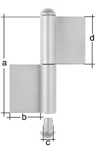 Bande de construction de xø14 140 x 50 x 70 mm en acier brut gAH 2 pièces type kO4
