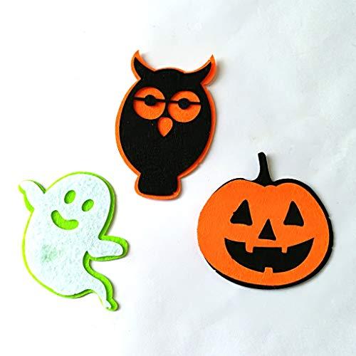 Kostüm Filz Eule - WSJDE Halloween Sammlungen von Kürbis/Eulen & Ghost Filz Patches, Halloween Holiday Decor Vlies Filz Formen22. Juni