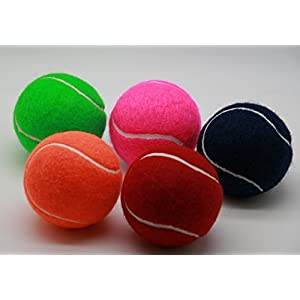 Price – 5 farbige Tennisbälle mit Filz