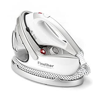 Finether Steam Ironing Machine 2 in 1 Clothes Steam Generator Garment Steamer Iron with Dry Ironing& Steam Ironing│Quick Heat-up│9 Steam Levels│Auto Cleaning│Unti-burn