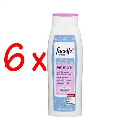 facelle intim sensitive Intim-Waschlotion 300 ml, 6er Pack (6x300 ml)