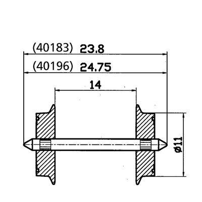 Desconocido Vagón para modelismo ferroviario 40196