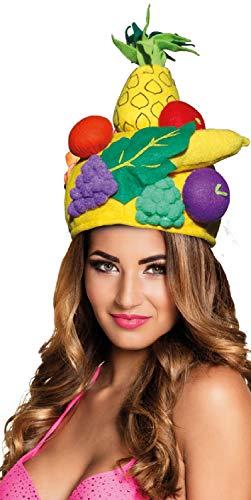 Fancy Me Herren Damen Tropische Frucht Carmen Miranda Sommer Festival Karneval Kostüm Outfit - Carmen Miranda Kostüm