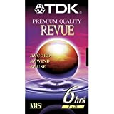 #1: TDK Blank VHS TAPES: Premium Quality Revue (4 Pack) 6 hrs (T-120)