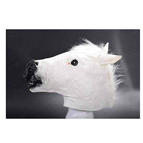 Spielt Für Kostüm Weihnachten - MKeDa Furchtsames Latex-Tierpferdekopf-Masken-Kostüm spielt für Halloween-Partei-Maskerade