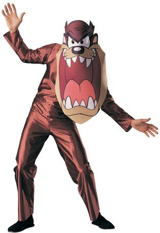 Original Lizenz Tazkostüm Kostüm Taz Looney Tunes Wirbelwind Gr. STD (Looney Tunes Kostüm)