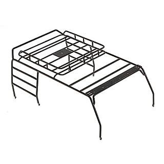 Jamicy Dachgepäckträger, Metall Dachgepäckträger für 1/10 AXIAL SCX10 Wrangler RC Crawler