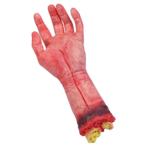 9 Bloody Hand Halloween Prop-Set, Rot, One size (Halloween Knochen Witze)