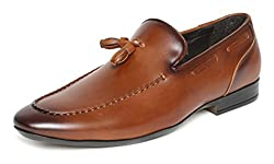 San Frissco Mens Tan Loafers - 6 UK