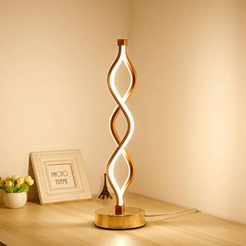 XINYE LED Schreibtischlampe Wellenform Augensorgfalt Tischleuchte Schlafzimmer Leseleuchten, 24W , Warm Light