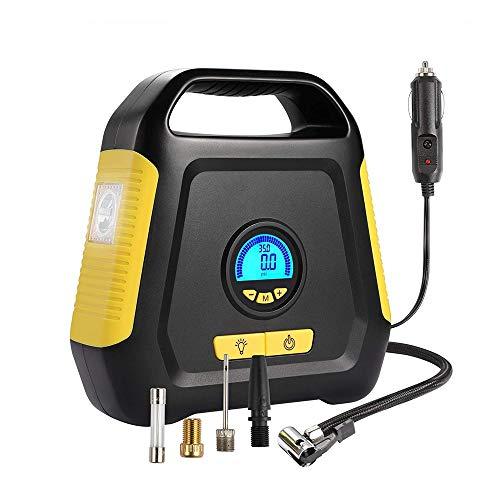 Gonfiatore della pompa del compressore, for auto portatile della pompa di aria, display digitale a cristalli liquidi, di emergenza Led Lighting, utilizzato in automobile, bicicletta, motocicletta P