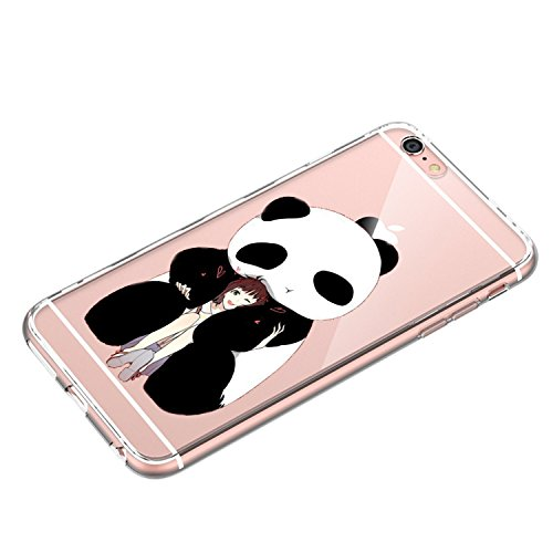 Custodia iPhone 6 Cover, iPhone 6s Clear Soft TPU Protective Case Back Cover with Cute Cartoon Pattern [Slim Fit] [Ultra Thin] for inches iPhone 6s (7) 5