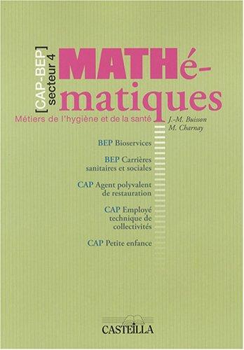 Mathématiques CAP-BEP : Métiers de l'hygiène et de la santé
