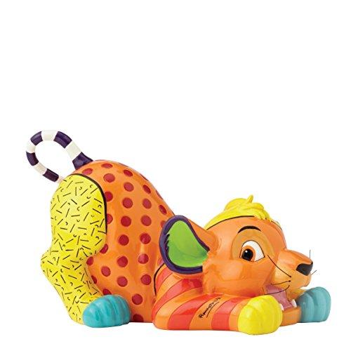 Disney Britto Collection Britto Simba Figurine, Resin, Multicolour, 20 x 12.5 x 12 cm (Britto Katze Figuren)