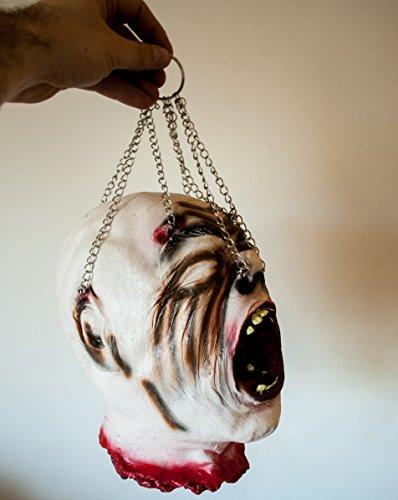 er Kopf Horror lebensgroß Detailiert super verarbeitet (Abgetrennter Kopf Halloween)