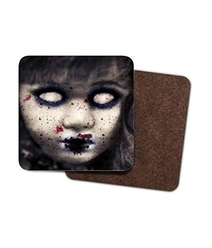 faserplatte, Zombie-Puppe, BlutScrela, Augen, frechetzend, Gothic, Gruselige Halloween-Vibes, 4 Stück ()