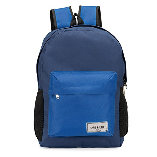 Chris & Kate Blue School Bag | College Bag | Casual Backpack (21 litre)(CKB_135RB)  available at amazon for Rs.199