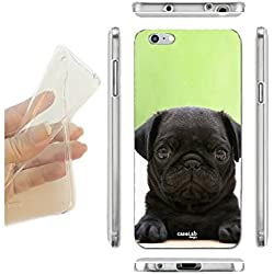 FUNDA CARCASA SLIM BLACK PUG CARLINO PARA IPHONE 6 6S TPU