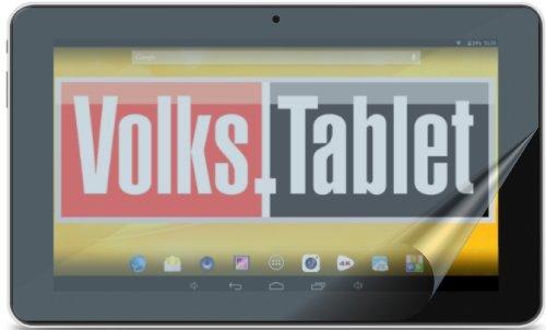 2x Trekstor Volks-Tablet 10.1 ENTSPIEGELNDE Displayschutzfolie Bildschirmschutzfolie Schutzhülle Displayschutz Displayfolie Folie - PASST NICHT AUF VOLKSTABLET 2 MIT EINER DISPLAYGRÖßE VON 253 x 159 mm