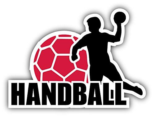 Handball Label Hochwertigen Auto-Autoaufkleber 12 x 10 cm