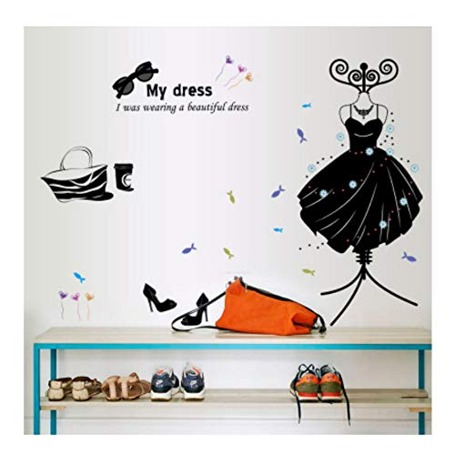 idung schuhe hüte wohnzimmer schlafzimmer dekoration schwarze wandaufkleber auf der wand brille kleiderbügel 50 * 70 cm ()