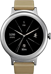 LG Watch Style Smartwatch Android Wear 2.0, Memoria Interna 4 GB, Argento