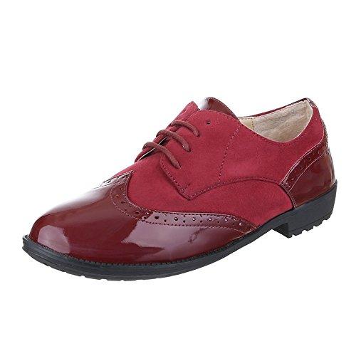 Ital-Design , chaussons d'intérieur fille Rouge