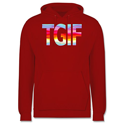 Statement Shirts - Thank god it's friday - Männer Premium Kapuzenpullover / Hoodie Rot
