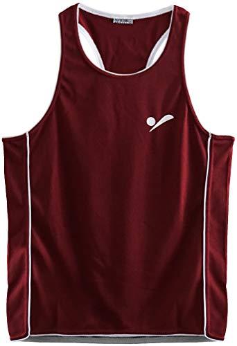 Beach Volleyball Apparel Kinder Beachvolleyball Shirt Trikot Sport Tank Top TT100 - Dunkelrot - S - 158-164