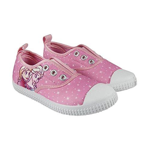 Disney Die Eiskönigin 2300002888 Mädchen Sneaker, Schuhe, Canvas, Rosa, Elsa, Anna (26)