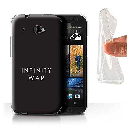 601 Telefon-abdeckungen Desire Für Htc (Stuff4 Gel TPU Hülle / Case für HTC Desire 601 LTE / Infinity War Minimalistisch Muster / Infinity War Inspiriert Kollektion)