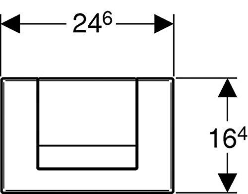 Geberit 115760211 Betätigungsplatte Tango für Spül-Stop-Spülung, hochglanz-verchromt