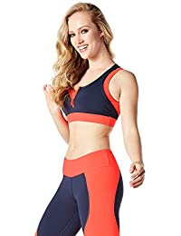 Zumba Fitness Damen Team Zumba Zip Bra Frauentops