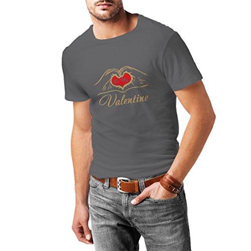N4153 Camiseta Be my Valentine Love, Great St. Valentine Gift (Medium Gris Oro)