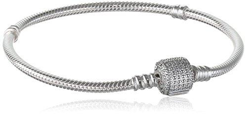 Pandora bracciali donna argento 9 carati zirconia cubica