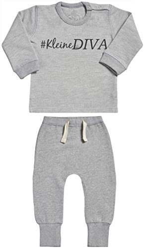 leidungssets - Baby Geschenkset - Grau Baby Sweater & Grau Baby Jogginghosen - Babyoutfit - 0-6 Monate ()