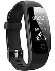 Fitness Tracker HR, Letsfit Fitness Armband mit Pulsmesser, IP67 Wasserdicht smart Aktivitätstracker Schrittzähler, Kalorienzähler Sport Uhr mit Schlafanalyse Fitness Uhr mit einem Ersatzarmband für iOS und Android