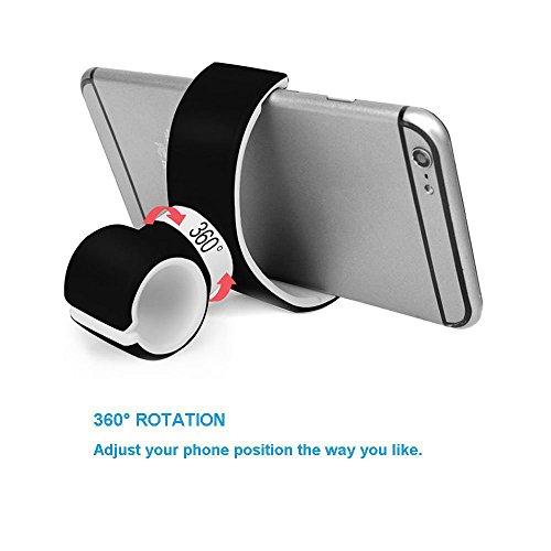 ROOP-Multifunktionale-KFZ-Halterung-Wiege-Halterung-Auto-Air-Vent-Lenkrad-Fahrrad-Lenker-Halterung-Halter-Cradle-Stnder-fr-Handy-iPhone-GPS-Taschenlampe-schwarz-und-wei