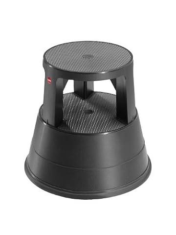 Hailo 4440-001 Rolltritt 220, Kunststoff mit Anti-Rutsch-Matten, schwarz (Sk Leiter)