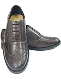 ASM Pure Leather Formal Brown Brogue Shoes With Leather Upper, Leather Insole, Fully Leather Lining, TPR Sole...