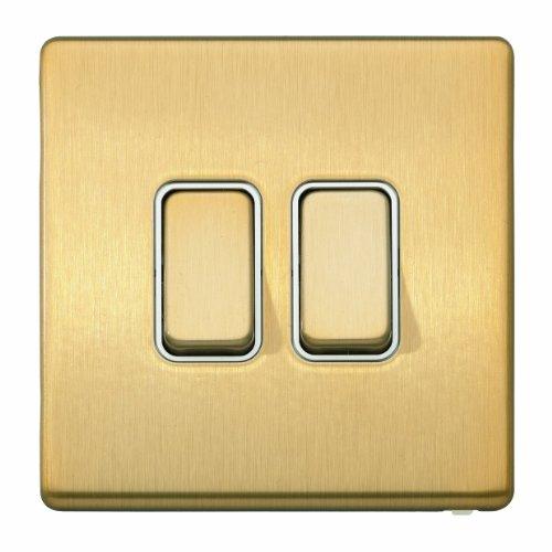 MK Aspect k24372sagw 20Objektbereich eine Single Pole 2-Wege Schalter-Satin Gold -