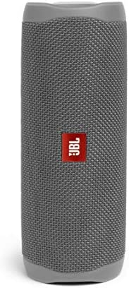 JBL Flip 5 Portable Waterproof Bluetooth Speaker with Hybrid Carrying Case (Gray)