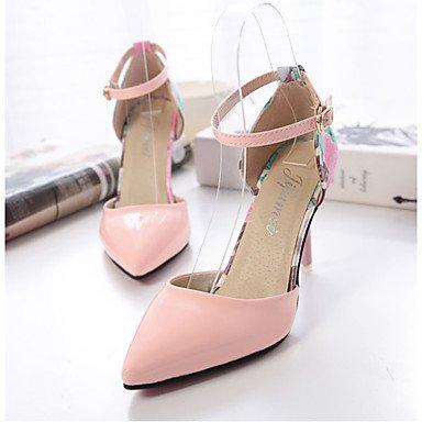 LvYuan Damen-Sandalen-Lässig-PU-Stöckelabsatz-Komfort-Grün Rosa Weiß Pink