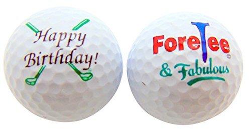 Mariposa Golf Ball (Happy 40th Birthday ForeTee & Fabulous Set of 2 Golf Ball Golfer Gift Pack by Westin)