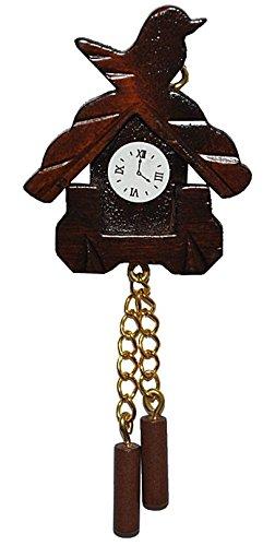 Miniatur Kuckucksuhr - für Puppenstube Maßstab 1:12 - Nostalgie Uhr Wanduhr für Wohzimmer Schwarzwald Puppenhaus